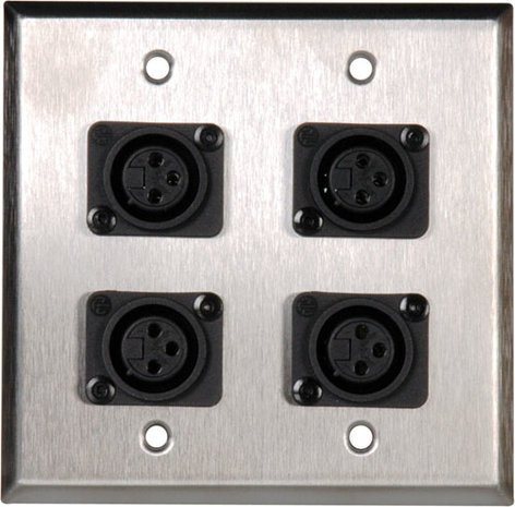 TecNec WPL2117  2 Gang Wall Plate  WPL2117