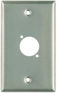 Pro Co WPU1004 Plateworks Single-Gang Stainless Steel Wall Plate with 1x D-Series Punchout WPU1004