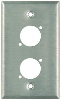 Pro Co WPU1013 Plateworks Single-Gang Stainless Steel Wall Plate with 2x D-Series Punchouts WPU1013