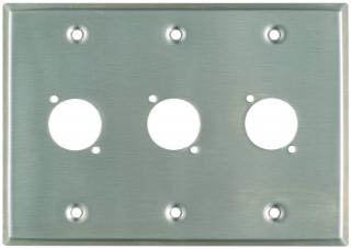 "Pro Co WPU3001 Plateworks Triple-Gang Stainless Steel Wall Plate with 3x ""D-Series"" Punch Outs WPU3001"