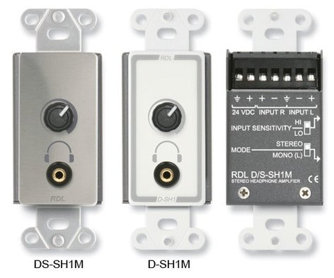 "RDL D-SH1M Stereo Headphone Amplifier with 1/8"" TRS Jack in White D-SH1M"
