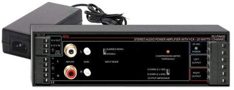 Radio Design Labs RU-PA40D 40W Amplifier with VCA, Power Supply, 20W RMS/Channel @ 8 Ohms RUPA40D