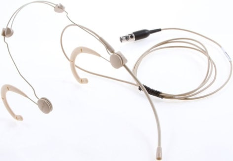 Shure WBH53T BETA 53 Omnidiredctional Headworn Microphone for Wireless with TA4F Connectors in Tan WBH53T
