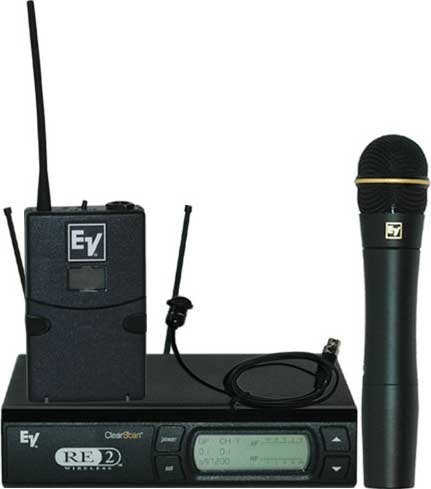 Electro-Voice RE2-COMBO  Wireless Microphone Combo System with Bodypack & Handheld Transmitters RE2-COMBO