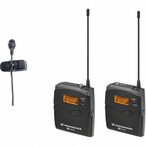 Sennheiser ew 122P G3 Wireless Camera Mount Microphone System with ME4 Lavalier EW122P-G3