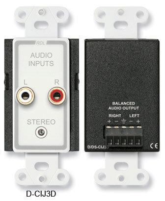 Radio Design Labs D-CIJ3D Consumer Input Jacks, Stereo, RCA D-CIJ3D