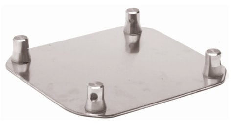 "Global Truss SQ-4137-H 16"" x 16"" Aluminum Base Plate for Square Truss SQ4137H"