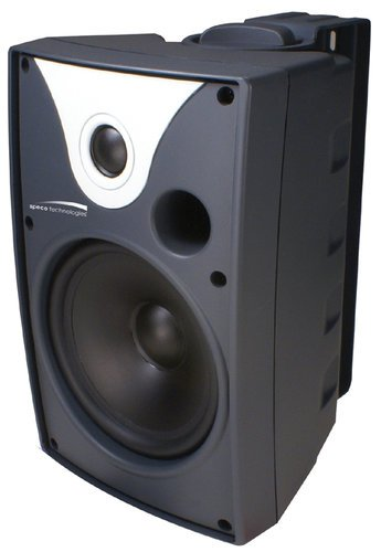 """Speco Technologies SP5AWXT Outdoor Speaker 5.25"""" with Transformer, Pair, Black SP5AWXT"""