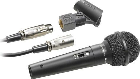 Audio-Technica ATR1500  Dynamic Unidirectional Mic with XLR-XLR Cable, On/Off Switch ATR1500