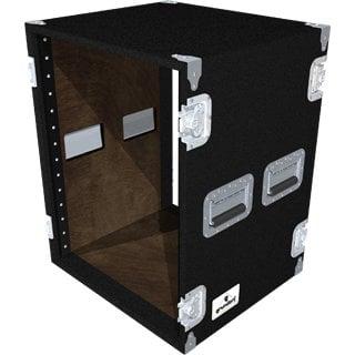 Grundorf Corp AR14DR-BLACK 14-Space Amp Rack (Black) AR14DR-BLACK