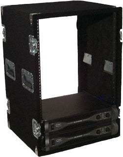 Grundorf Corp AR16DR-BLACK 16-Space Amp Rack (Black) AR16DR-BLACK