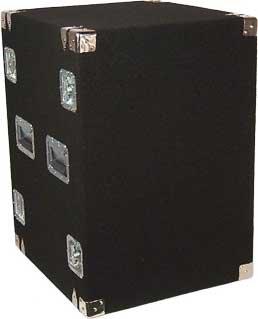 Grundorf Corp AR16DR-BLACK 16-Space Amp Rack (Black) AR16DR-BLACK