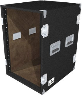 Grundorf Corp AR16EXDR-BLACK 16-Space Extra-Deep Amp Rack (Black) AR16EXDR-BLACK