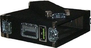 Grundorf AR3DR-BLACK 3 RU Space Amp Rack (with Recessed Hardware, Black) AR3DR-BLACK