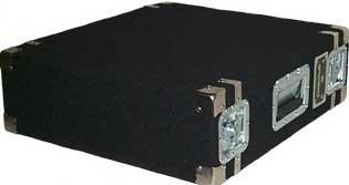 Grundorf Corp AR3DR-BLACK 3 RU Space Amp Rack (with Recessed Hardware, Black) AR3DR-BLACK