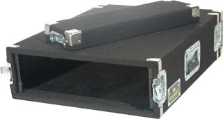 Grundorf Corp AR4EXDR-BLACK 4-Space Extra-Deep Amp Rack (Recessed Hardware, Black) AR4EXDR-BLACK