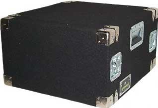 Grundorf Corp AR6DR-BLACK 6 RU Amp Rack (with Recessed Hardware, Black) AR6DR-BLACK