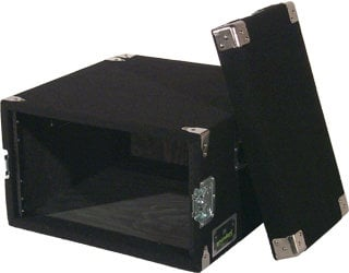 Grundorf Corp AR8DR-BLACK 8 RU Amp Rack (with Recessed Hardware, Black) AR8DR-BLACK