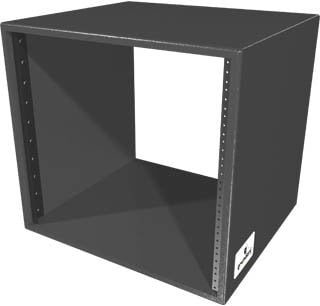Grundorf Corp RSB10D-BLACK 10 RU Deep Birch Style Rack Shell (Black) RSB10D-BLACK