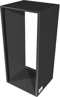 Grundorf Corp RSB24D-BLACK 24 RU Deep Birch Rack Shell (Black) RSB24D-BLACK