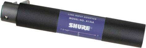 Shure A15LA Line to Mic input adapter XLR-F/M A15LA