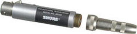 "Shure A95UF XLR-Female/Lo-Z to Hi-Z 1/4"" Female & Male transformer A95UF"