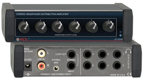 Radio Design Labs EZ-HDA6 1x6 Headphone Distribution Amplifier EZ-HDA6