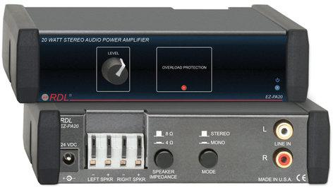 RDL EZ-PA20 10W RMS/Channel @ 8 Ohms Stereo Amplifier EZ-PA20