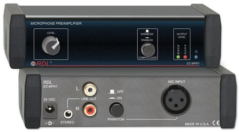 Radio Design Labs EZ-MPA1 Mic Preamp with Compressor, Stereo Output EZ-MPA1