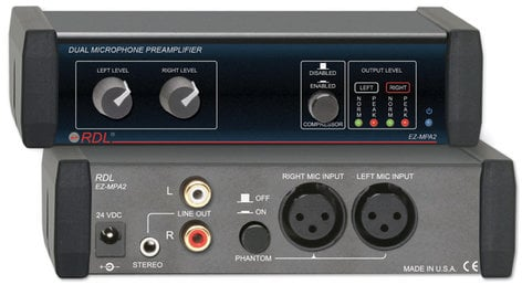 Radio Design Labs EZ-MPA2 Dual Mic Preamp with Compressors, Stereo out EZ-MPA2