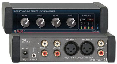 Radio Design Labs EZ-MX4ML Microphone and Stereo Line Mixer 4x1 EZ-MX4ML
