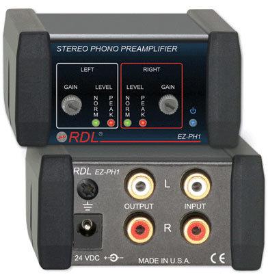 RDL EZ-PH1 Stereo Phono Preamplifier EZ-PH1