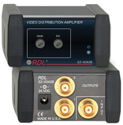 RDL EZ-VDA2B 1x2 Video Distribution Amp BNC EZ-VDA2B