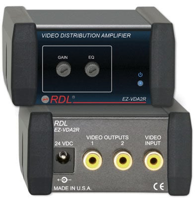 RDL EZ-VDA2R 1x2 Video Distribution Amp RCA EZ-VDA2R