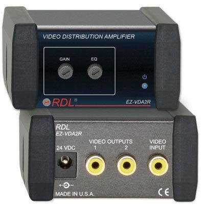 Radio Design Labs EZ-VDA2R 1x2 Video Distribution Amp RCA EZ-VDA2R