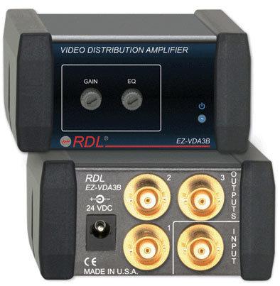 RDL EZ-VDA3B 1x3 Video Distribution Amp BNC EZ-VDA3B