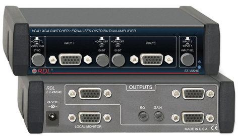 Radio Design Labs EZ-VM24E Switcher, 2x4 VGA/XGA EZ-VM24E