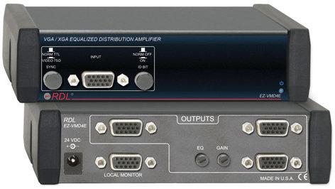 Radio Design Labs EZ-VMD4E 1x4 Video Distribution Amp VGA/XGA EQ EZ-VMD4E