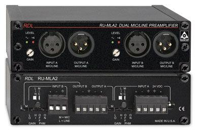 Radio Design Labs RU-MLA2T Dual Mic/Line Preamplifier with Transformer RUMLA2T