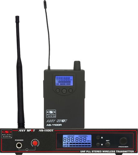 Galaxy Audio AS-1100 Any Spot Wireless Personal Monitor System with EB4 Earbuds AS-1100