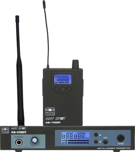 Galaxy Audio AS-1106 UHF Wireless Personal Monitor (AS-1100 Model with EB6 Single-Driver Ear Buds) AS-1106
