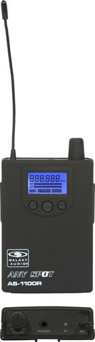 Galaxy Audio AS-1106R Wireless Receiver (AS-1100R Model with EB-6 Ear Buds) AS-1106R