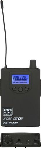 Galaxy Audio AS-1106R Wireless Receiver (AS-1100R Model with EB-6 Ear Buds) AS-1106R
