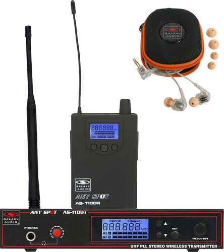 Galaxy Audio AS-1110 Any Spot Wireless Personal Monitor System with EB10 Dual-Driver Ear Buds AS-1110