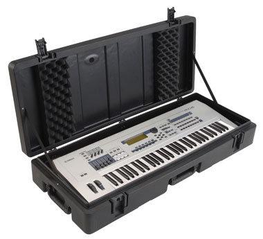 SKB Cases 1SKB-R4215W Hardshell Molded 61-Key Keyboard Case 1SKB-R4215W