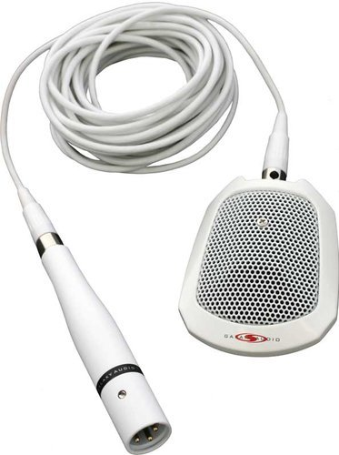 Galaxy Audio BN-218SW Surface Mount Boundary Microphone (with Roll-Off Switch, White) BN-218SW