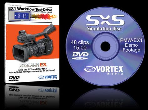 Vortex Media SXSDVD  XDCAM EX Workflow Test Drive DVD SXSDVD