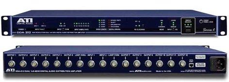 Audio Technologies DDA-212BNC Digital Audio Distribution Amplifier, 2 Input 1x12 or Dual 1x6 DDA, BNC I/O DDA-212BNC