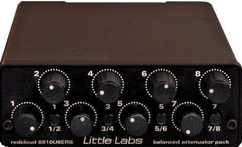 Little Labs REDCLD  Balanced Attenuator Pack (Little Labs Part #: Redcloud 8810U8ERS) REDCLD