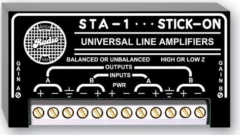 Radio Design Labs STA-1 Dual-Channel Balanced/Unbalanced Line Amplifier with 12-20dB Gain STA1
